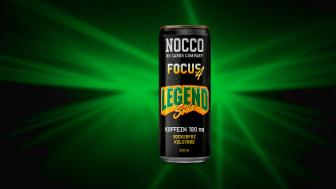 Legend Soda med 180 mg koffein och sex olika vitaminer, samt är kolsyrad och sockerfri.