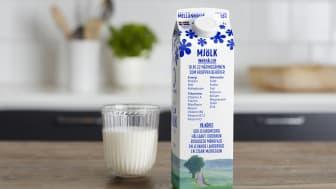 Hållbarhetsrapportens framsida hyllar mjölkens alla fördelar.