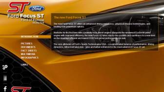 Ford Focus ST online press kit