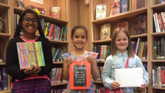 Prize occasion for young Big Friendly Read winners
