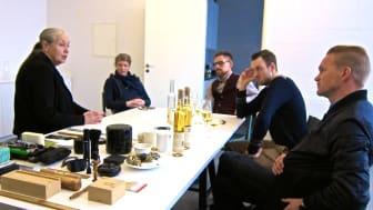 Ingegerd Råman utformar iscider-glas med Brännland Cider