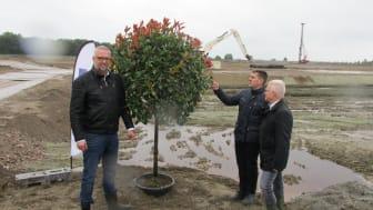 de eerste boom op Tholen is geplant