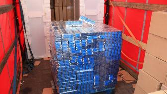 Cigarettes  discovered hidden among a shipment  fridge freezers