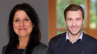 Anna Wikholm blir ny account manager för färdiga produkter och Johan Jarl är ny key account manager för bostäder.