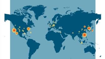 Danmark får baghjul på sine styrkeområder af mindst 30 øvrige regioner i verden.
