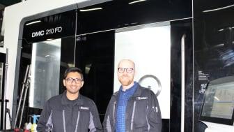 Nyrekryterade Sourabh Bhoje tillsammans med Anton Milesic Karlsson, produktionsteknisk chef, Tooltec.