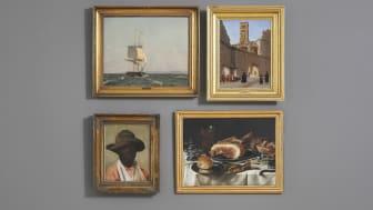 To malerier af C.W. Eckersberg, Pissarros portræt og Claesz' måltidsstykke fra dagens auktion