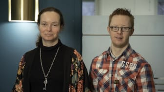 Lena Hesse och Viktor Barkström, båda med IF och olika erfarenheter av arbetslivet föreläser på frukostseminariet