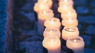 Ett ljus för varje självmord - år 2015 tog 1554 personer sina liv i Sverige