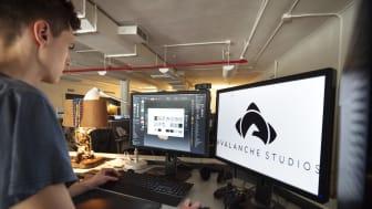 Avalanche Studios NYC Office Artist Desk