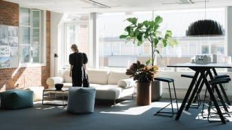 Liljewalls Stockholmskontor har fått fler sociala ytor. Foto: Anna Kristinsdóttir