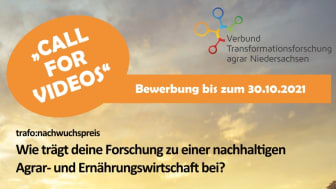 """Ausschreibung """"trafo:nachwuchspreis"""" gestartet"""