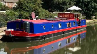Hi-res image - Fischer Panda UK - Elton Moss-built 70ft Kingsley barge Sacred has a Bellmarine electric propulsion system and Fischer Panda AGT 13kW 48v DC generator installed