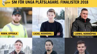Årets finalister i SM för unga plåtslagare 2018.