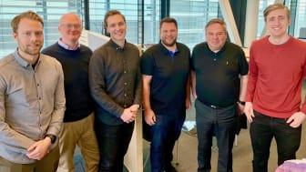 Ifdef och LogTrade. Från vänster till höger: Birkir Veigarsson, Fredrik Obrell, Thorir Gudlaugsson, Martin Åkesson, Fredrik Svedberg och Unnar Axelsson