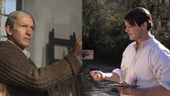 Antonio Banderas som den äldre Picasso och Alex Rich som den yngre i Genius: Picasso premiär på National Geographic onsdag den 25/4 kl 21.00.