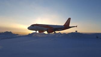 Airbus A319 från Kastrup landade för första gången på Åre Östersund Airport under lördagen