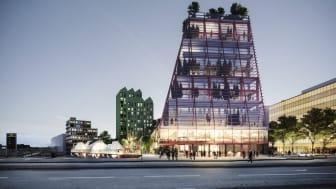The Embassy of Sharing kommer att bestå av sju kvarter med olika identiteter och funktioner, med byggnaden Fyrtornet närmast Hyllie stationstorg.