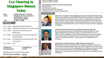 Eco Flooring Talk at Singapore Institute of Architects