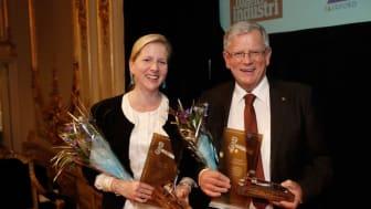 Årets Guldklubba: Cristina Stenbeck och Johan Markman erhöll utmärkelsen Guldklubban 2012