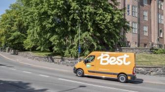 Best Transport växlar upp genom att ställa om till helt fossilfria hemleveranser för bolagets kunder i Stockholm, Göteborg och Malmö
