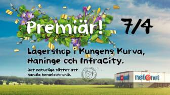 NetOnNet tar ett krafttag om Stockholm, slår upp tre nya Lagershoppar 7 april