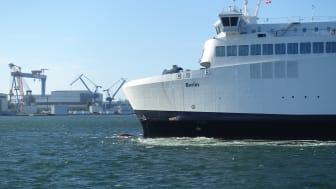 Neues Projekt zur Optimierung der Be- und Entladeprozesse der Scandlines Hybrid-Fähren im Rostocker Fährhafen.