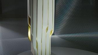 Strip vase designed by Zaha Hadid Design.