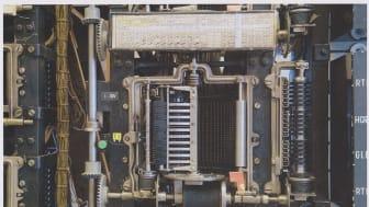 Hundreårige 7A-sentralen, Norges første automatiske telefonsentral, står på Teknisk museum