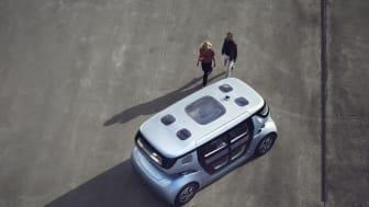 Det självkörande fordonet Sango är mobilitetssystemets viktigaste byggsten.