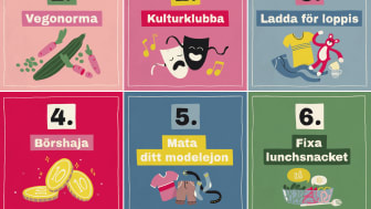 Några av tipsen från Steppaupp.se. Illustrationer: Soja
