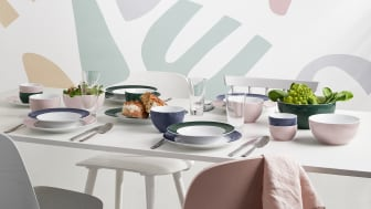 The light pastel tone can be perfectly combined with the existing Sunny Day colours, such as Herbal Green or Nordic Blue.