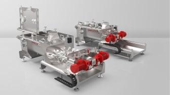 Pegasus® mixer blandar stora kvantiteter snabbt och effektivt trots sin kompakta storlek. Foto: Dinnissen