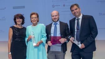 v.l.n.r.: Marlies Mirbeth (Vorstandsmitglied Stadtsparkasse München), Evi Brandl (Vinzenzmurr), Armin G. Schmidt und Dr. Peter Heiligensetzer (Beide GBS).