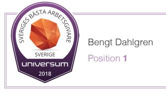 Bengt Dahlgren – Sveriges bästa arbetsgivare 2018!