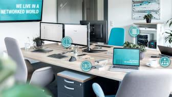 Tillsammans med Digitus erbjuder Conrad en mångsidig produktportfölj i kampanjen Digital arbetsplats. Fotokälla: Assmann