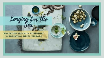 Rosenthal Junto Aquamarine turns the dining table into a place of well-being.