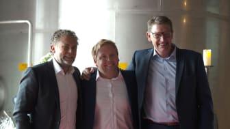 Lars Rosell, Christian Lindell, Johan Brandberg Arlanda 2018
