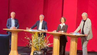 Der Vorstand am Goetheanum: Matthias Girke, Ueli Hurter, Constanza Kaliks und Justus Wittich (Foto: Sebastian Jüngel)