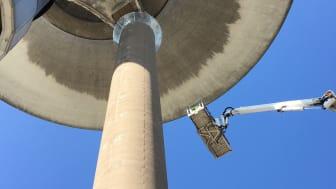 Vattentornet i stålstass