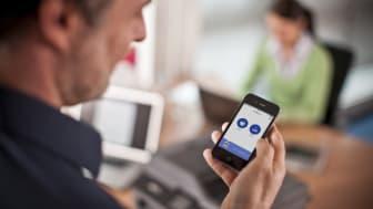 Appen gjør det mulig å skrive ut og skanne til mobile enheter som smarttelefoner og nettbrett