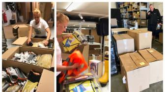 Det brinner i Sverige - Procurator skänker personlig skyddsutrustning för att bekämpa skogsbränderna