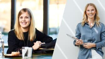 Anna Nordlander och Hanna Nordenö lanserar appen About Mom under 2021. Foto: Kristoffer Lönnå
