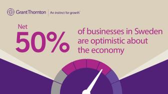 Företag % (balansmått) som är optimistiska om ekonomin 2017.
