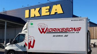 Widrikssons transporter med biogasfordon är märkta Bra Miljöval.