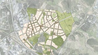 Strukturplan över Barkarbystaden. Järfälla kommun.