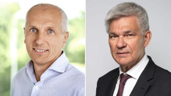 Henrik Edman, affärschef Svenska Mässan, och Peter Örn, ordförande i kommittén Demokratin 100 år.