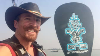 Graduate completes 1,800-mile Ganges paddle board expedition