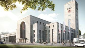 Das stadtbildprägende Äußere des Bonatzbaus bleibt erhalten.  Copyright: plan b Agentur für visuelle Kommunikation GmbH