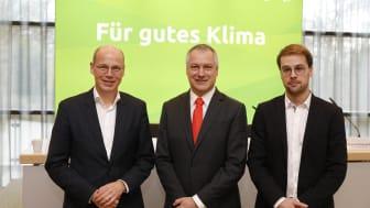 v.l.n.r: Dr. Timm Kehler (Zukunft ERDGAS), Andreas Schierenbeck (Uniper SE), Dr. Simon Schulte (EWI) (Bild: Zukunft ERDGAS/ Tobias Vollmer)